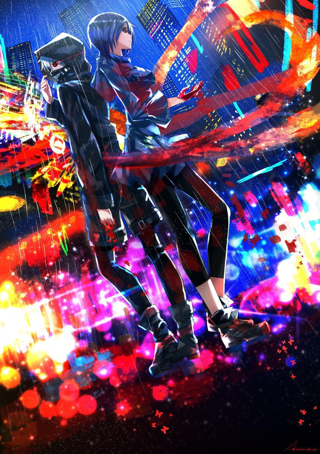 Kaneki and Touka Tokyo Ghoul OMG! Kanekikun Anime