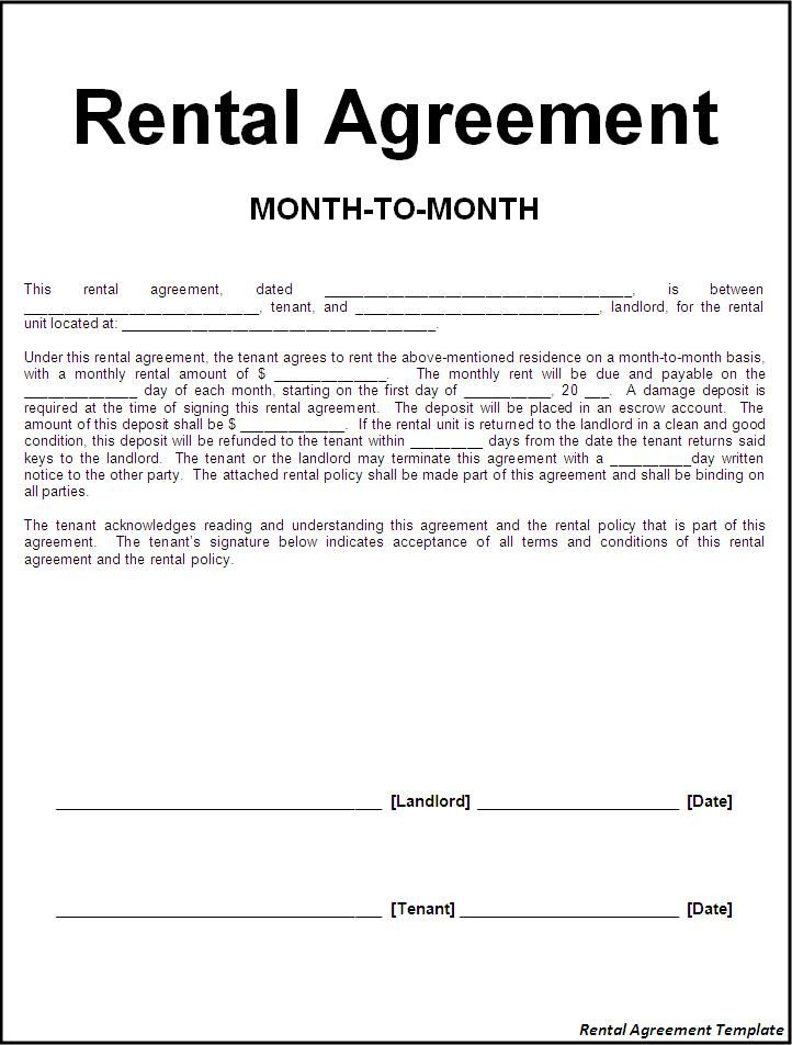 Printable Sample Rental Lease Agreement Templates Free Form  Real Estate Forms  Rental