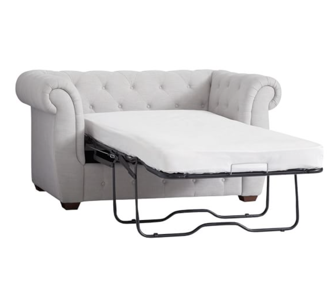 twin half memory furniture gray foam sofa beds living a chair with and room sleeper ottoman costco
