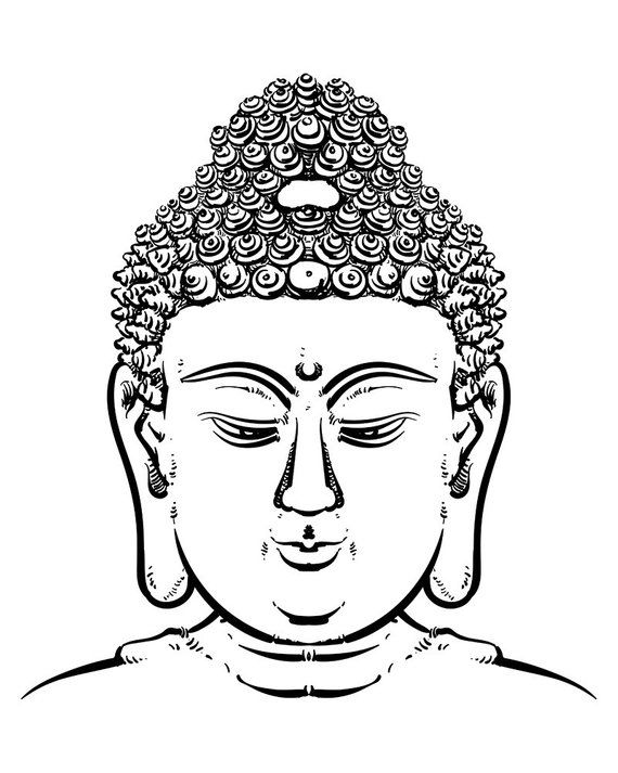 d6ef412f70a89 Buddha face isolated on a white background. Esoteric vintage vector  illustration. buddha head. India