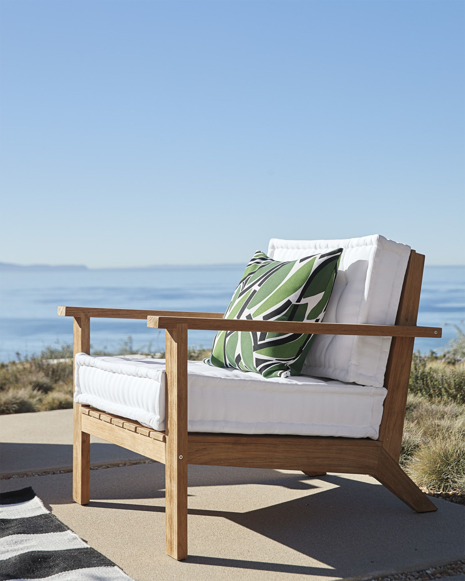 We Saved You A Seat Cliffside Teak Lounge Chair Via Serena Lily