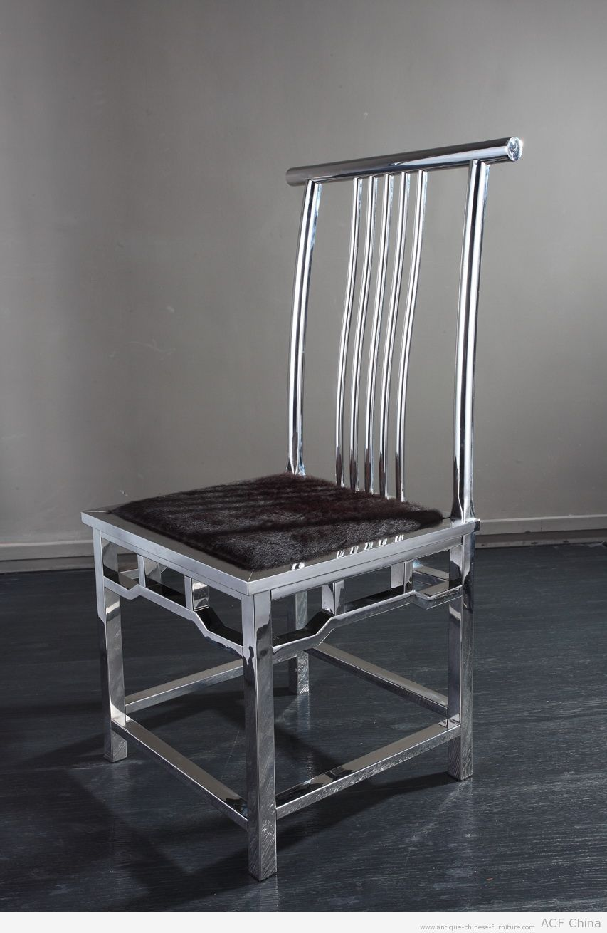 classic chinese chair reproduced in contemporary stainless