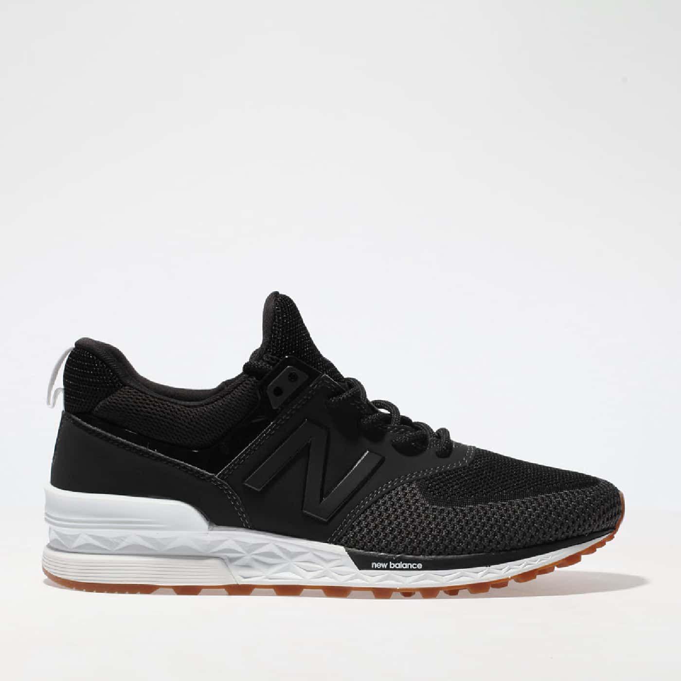 New Balance 574 Sport Black & Grey Kid shoes, Sport