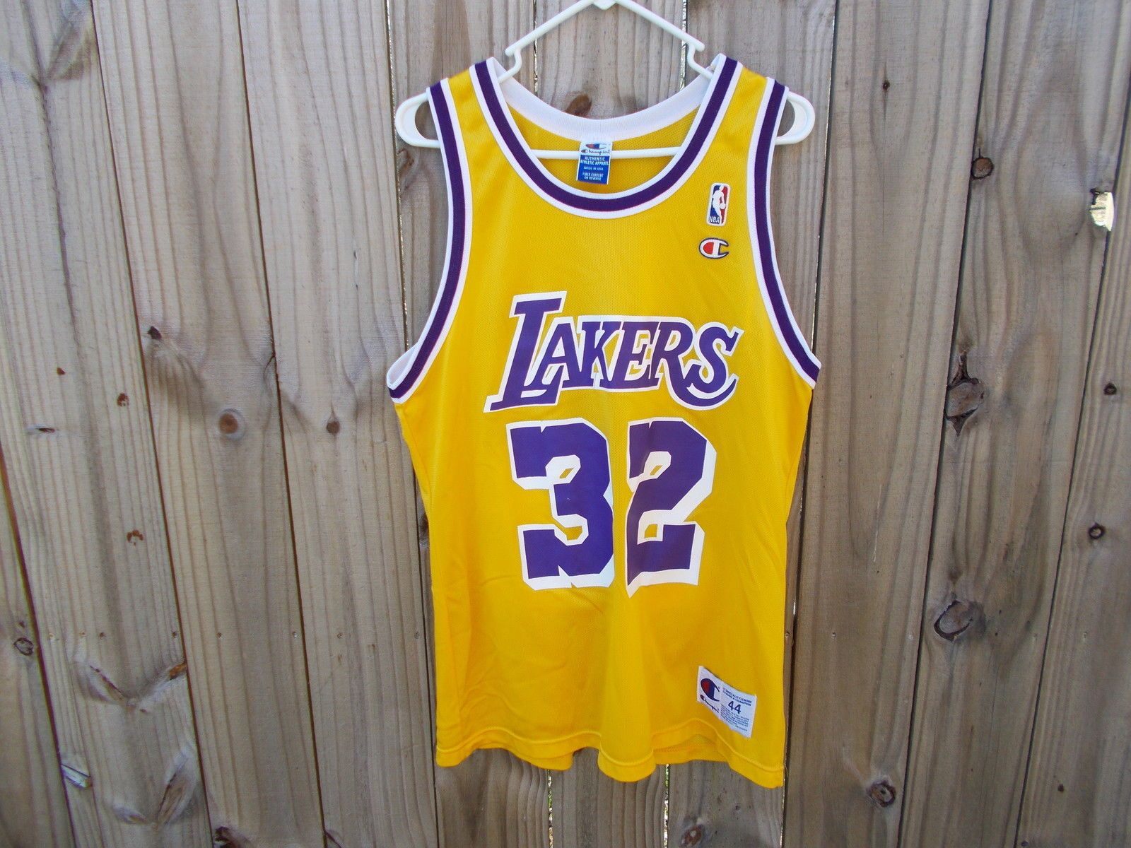 huge selection of 16743 3b5ff Champion NBA Los Angeles Lakers Magic Johnson Jersey men's ...