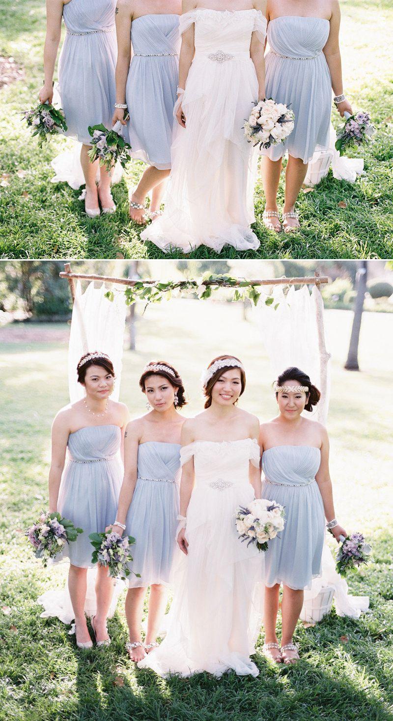 Pastel blue bridesmaid dresses. I love this color. I\'d let them ...