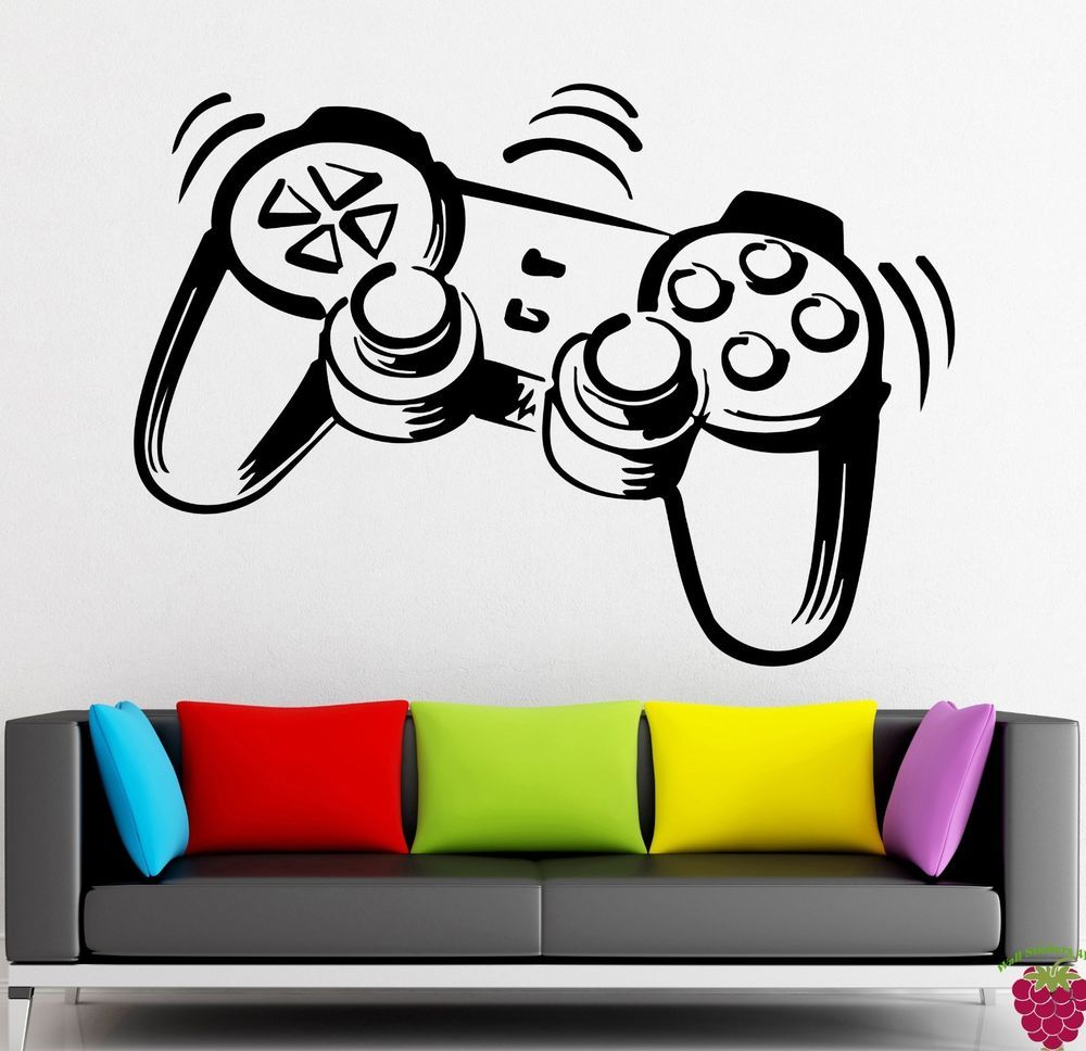 Wall Stickers Vinyl Decal Joystick Game Gamer Cool Decor For Living ...