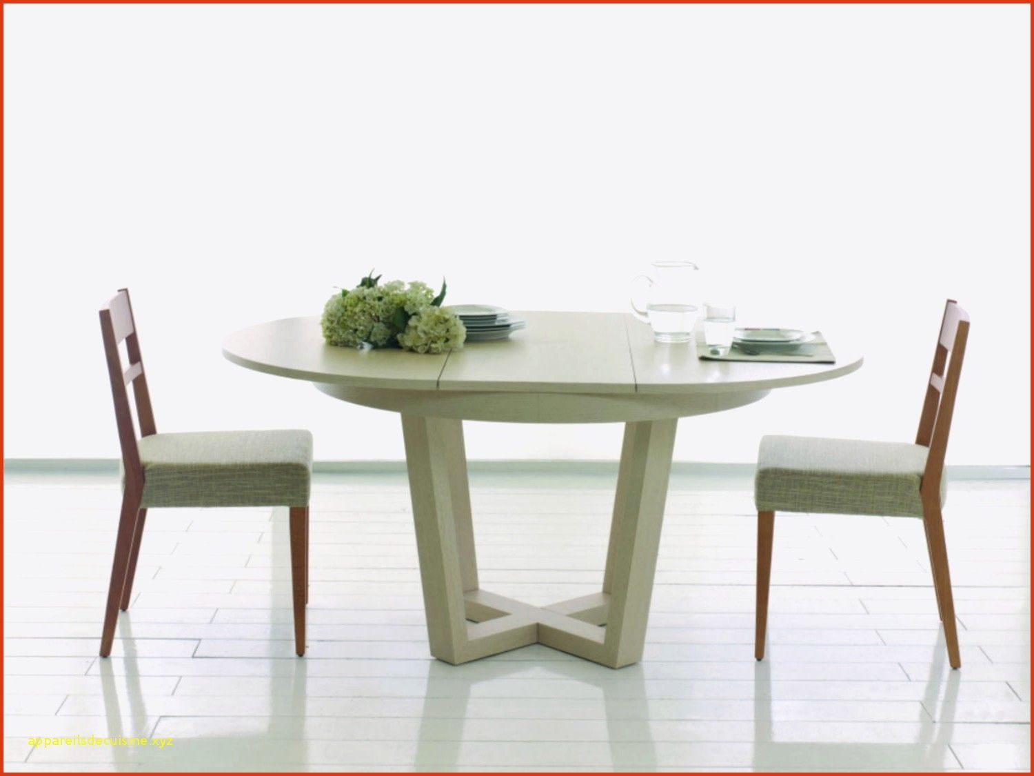 Unique Table Ronde Extensible 12 Personnes Contemporary
