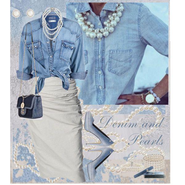 Denim and Pearls | Denim party, Denim outfit, Denim