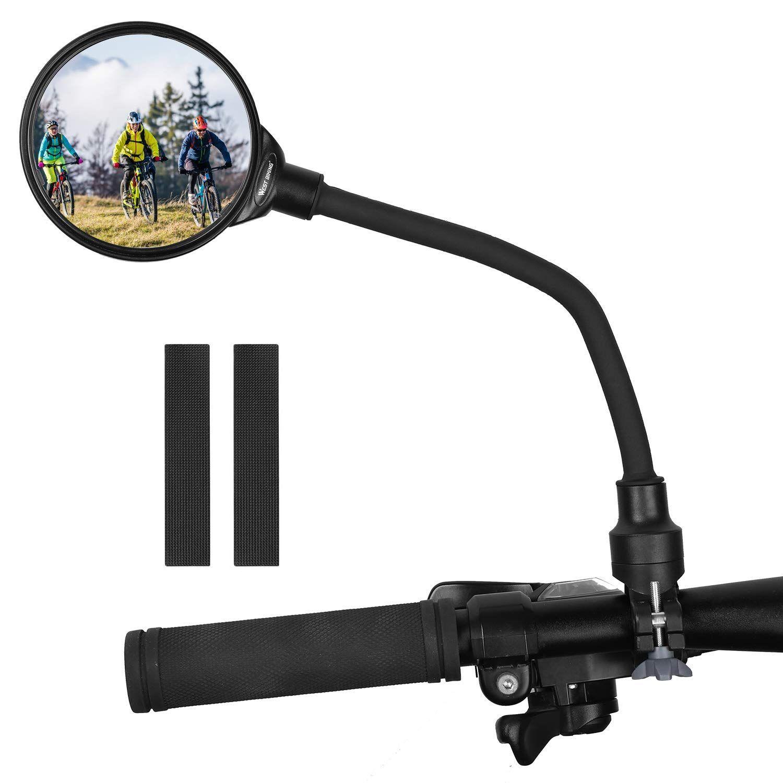 West Biking Bike Mirror Handlebar Mount Adjustable Rotatable