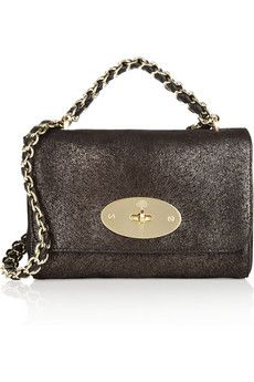 Mulberry - black with a gold chain