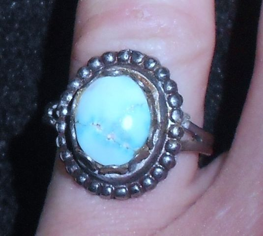 Sterling Silver Turquoise Women's Ring - $25