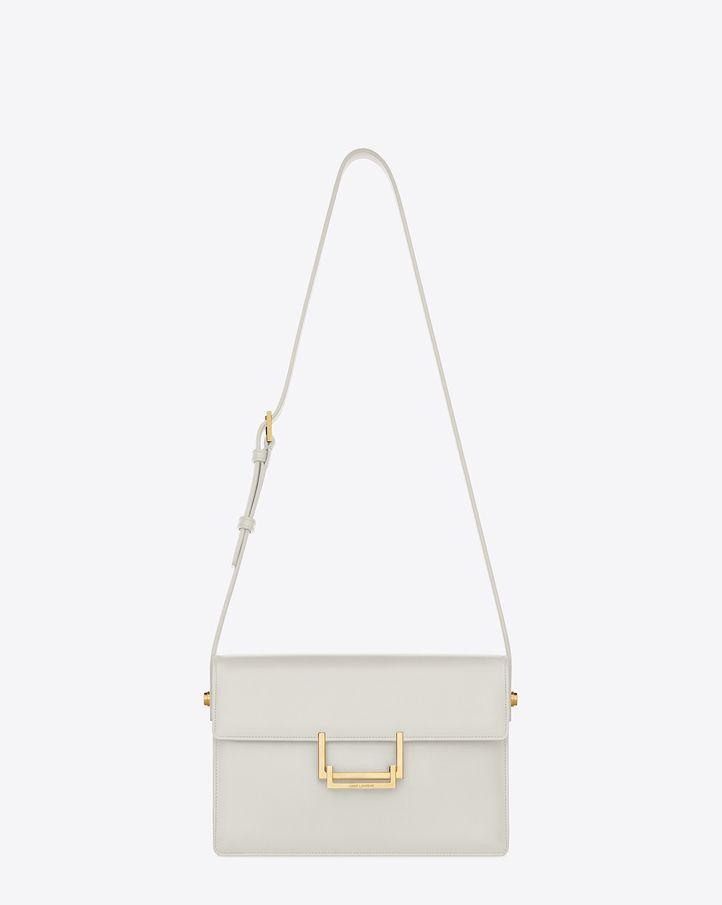 Saint Laurent Classic Medium Lulu Bag In Chalk Leather  1e31ece578bed