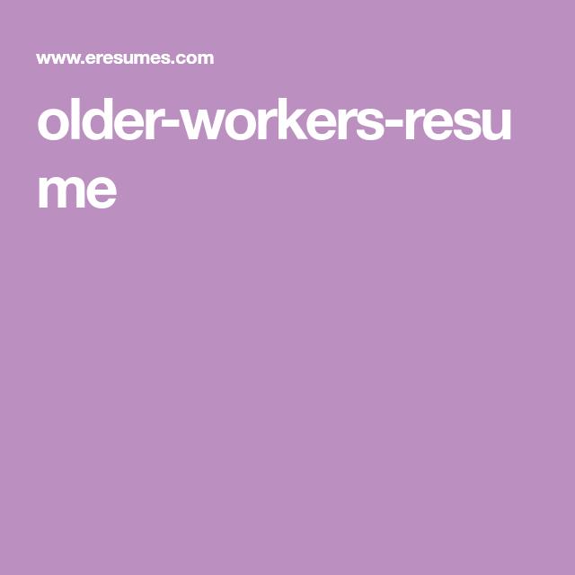 older workers resume cover letter styles pinterest resume