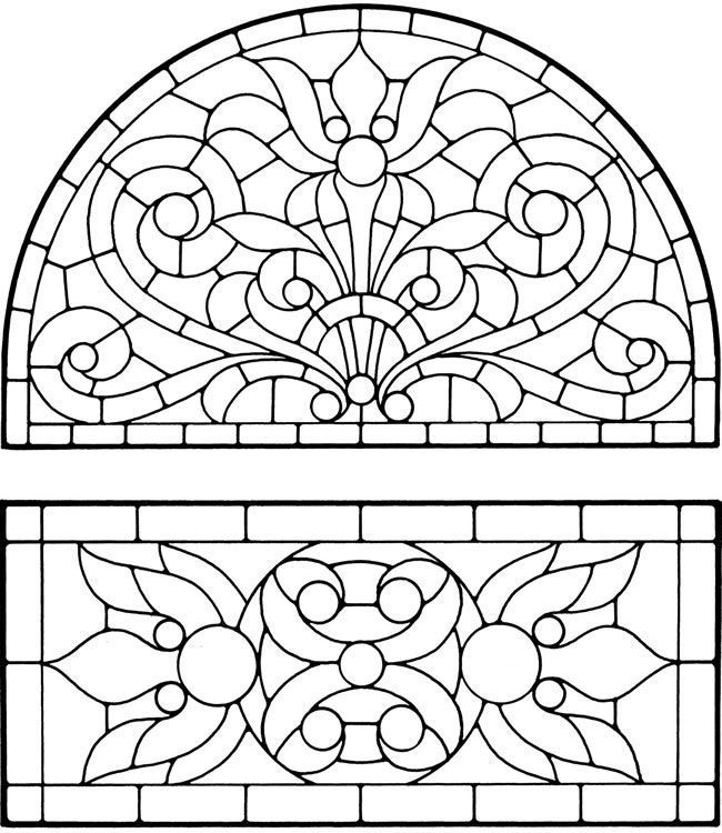 stained glass | Education: Coloring Pages | Stained Glass ...