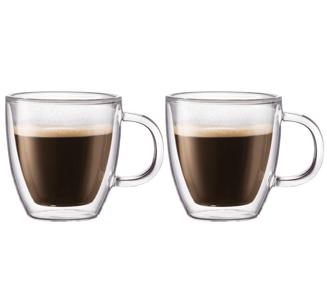 3fe3c06f9991 Bodum Bistro 10-Ounce Double Wall Glass Coffe Mug, Set Of 2 | Coffee ...