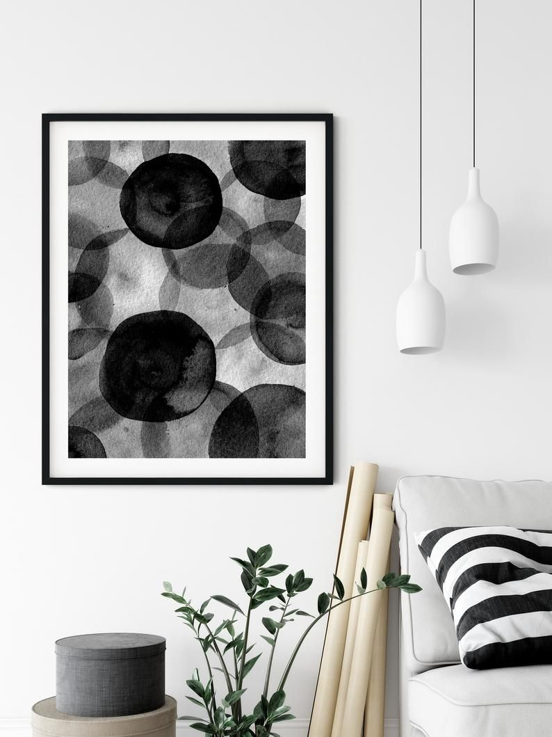 Printable Abstract Monochromatic Minimalist Watercolor Instant Etsy In 2020 Modern Art Printables Printable Art Prints Digital Art Prints