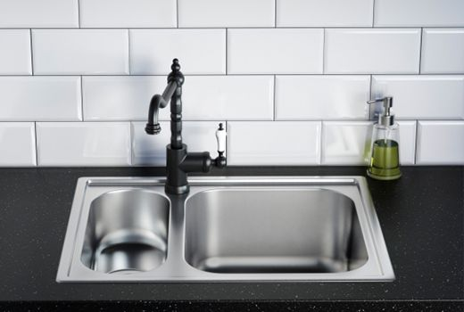 tap mounted within sink, rather than on worktop | Lowther ...