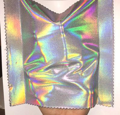 Silver Metallic Hologram nylon Spandex Lycra Fabric High Quality 4 ...