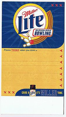 2001 miller lite beer #bowling advertising #table tent sign brewery lane #alley p  sc 1 st  Pinterest & 2001 miller lite beer #bowling advertising #table tent sign ...