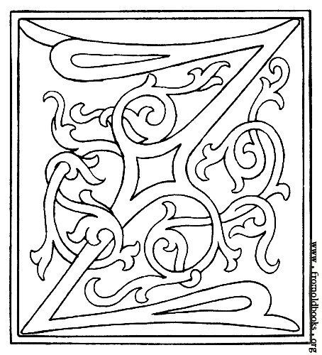 Initial Letter Z From Late 15th Century Printed Book Lettering