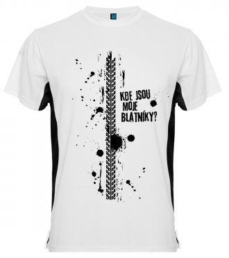 Pánské cyklistické tričko - Kde jsou moje blatníky  (bílé ... 49709be974