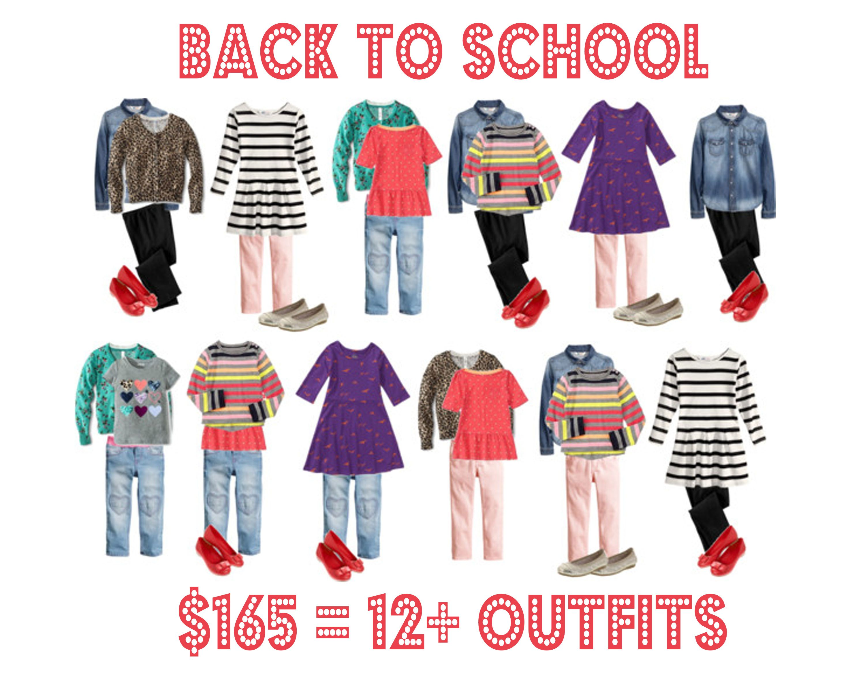 Back To School Wardrobe For Girls 12 Outfits For Less Than
