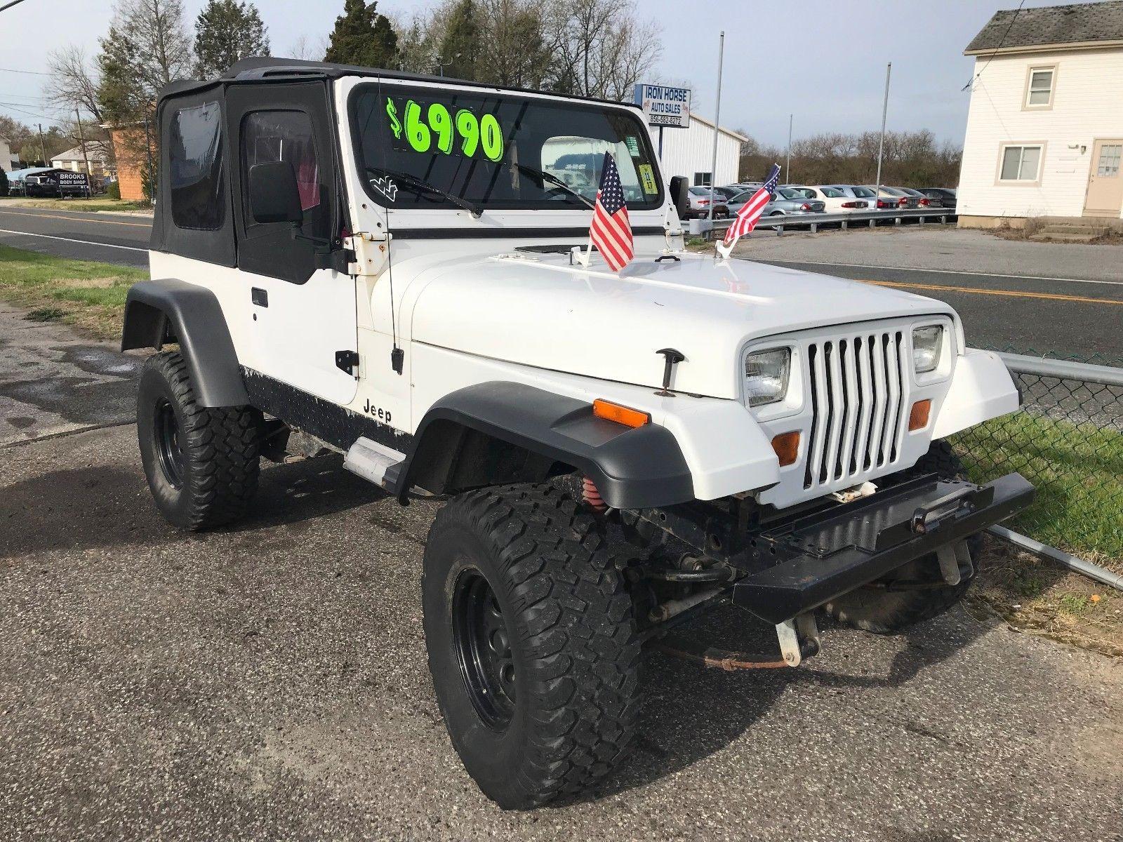 Ebay 1992 Jeep Wrangler Sport Utility 2d 1992 Jeep Wrangler 6 Cyl 4 0 Liter Manual 5 Spd Run Jeep Wrangler Jeep Wrangler Sport White Jeep Wrangler