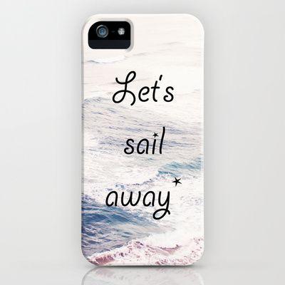 LET'S SAIL AWAY iPhone & iPod Case by COUCOU - $35.00