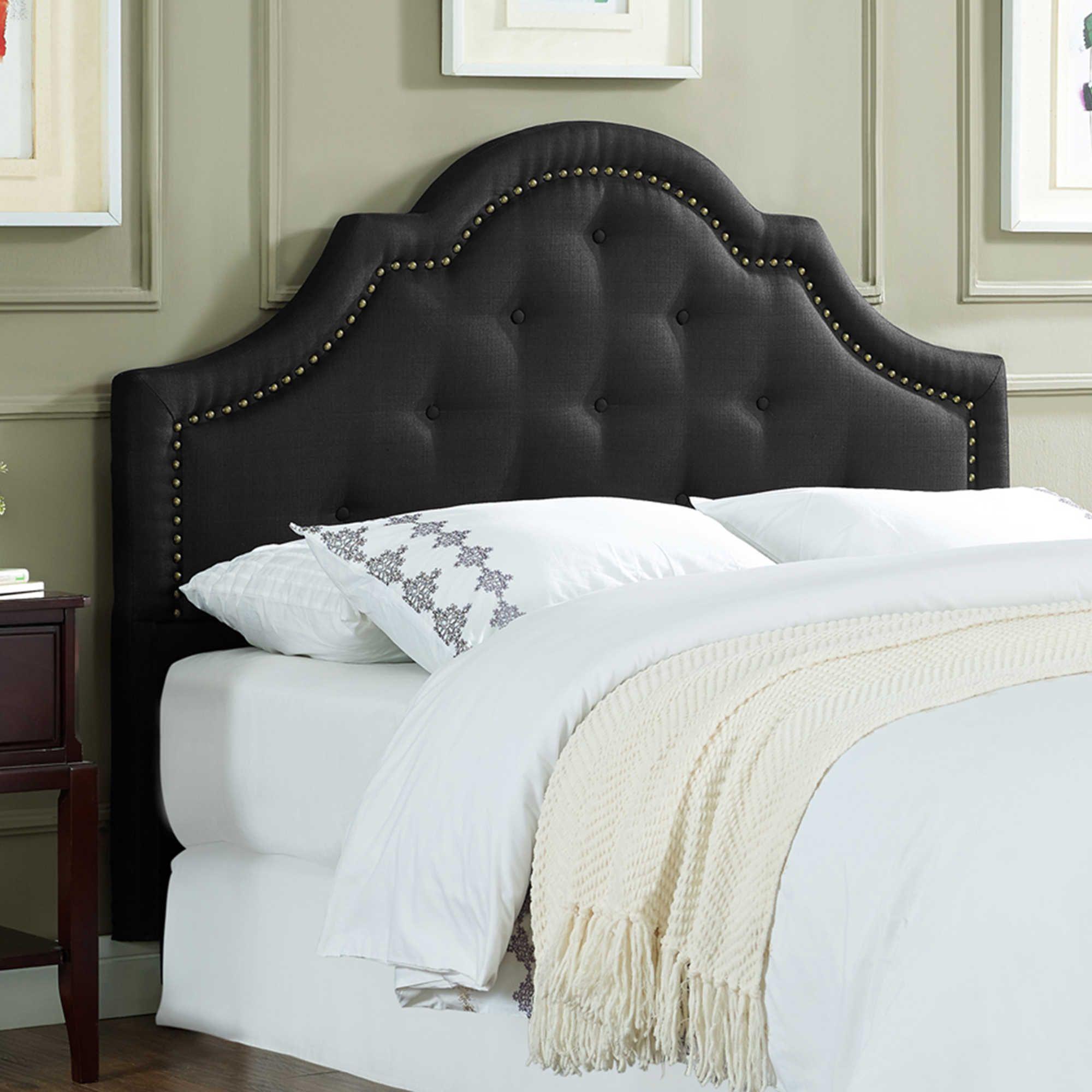 Lifestyles Solutions Felicity King Headboard In Black Headboard Upholstered Headboard Upholstered Panels