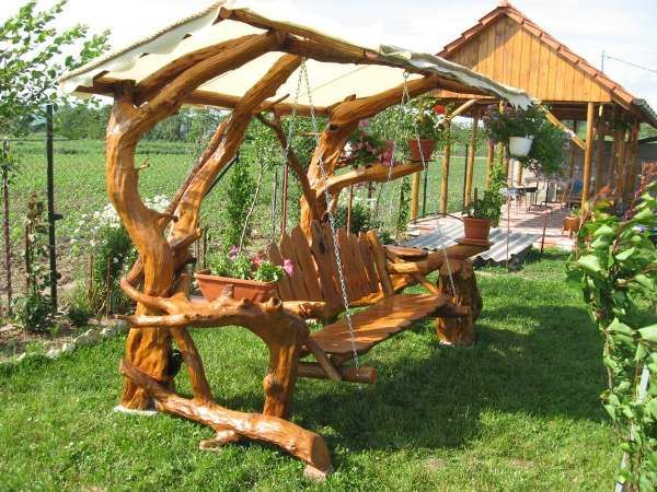 Charmant Rustic Garden Swing | Amazing Rustic Swing 8 | Home Design, Garden U0026  Architecture Blog .