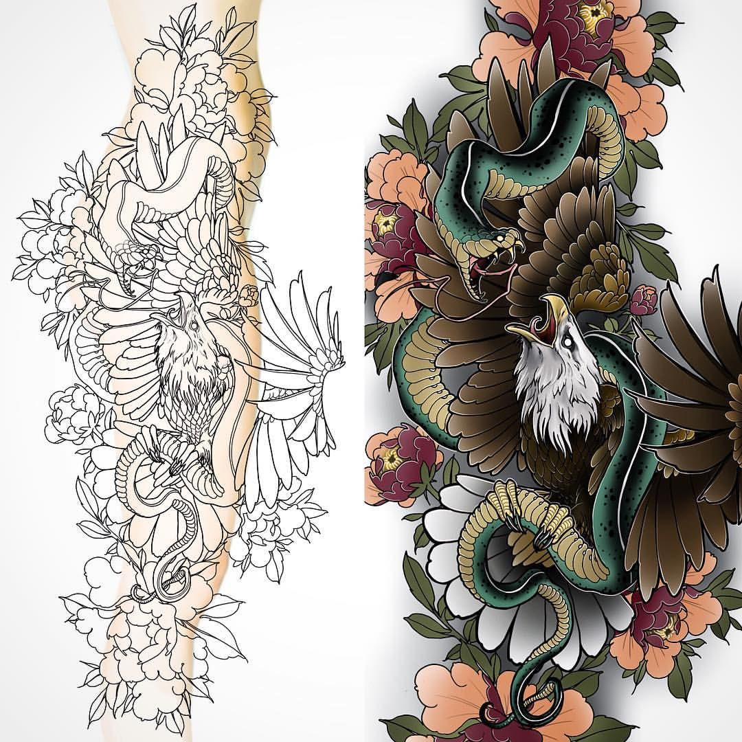 New Full Leg/hip Design Up For Grabs #tattoo #tattoos