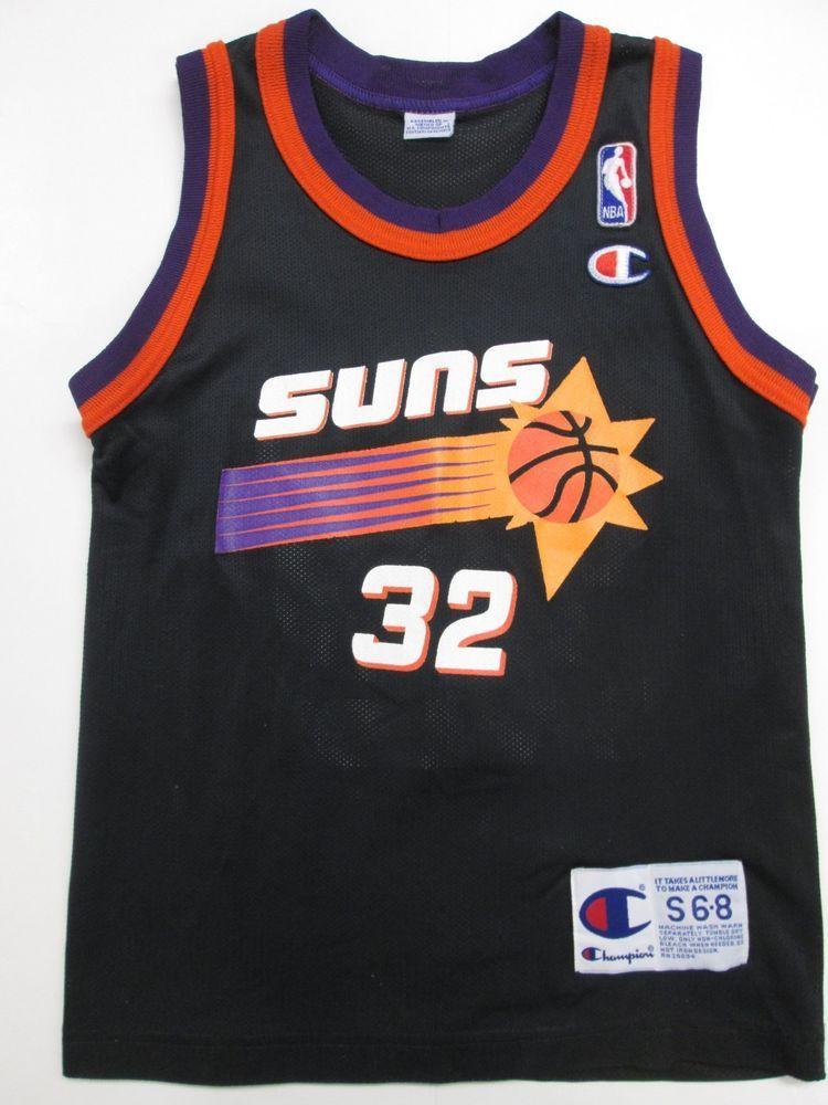 NBA Phoenix Suns Jason Kidd VINTAGE Black Jersey by Champion 20714aa43