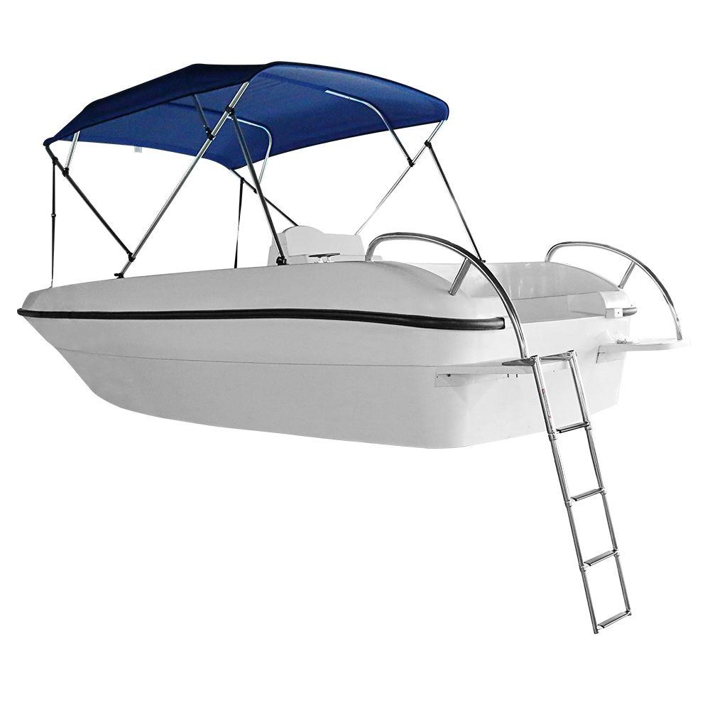 MSC 스테인레스 스틸 4 단계 탑승 망원경 사다리 해양 보트 수영장 단계 해양 학년 스테인레스 스틸