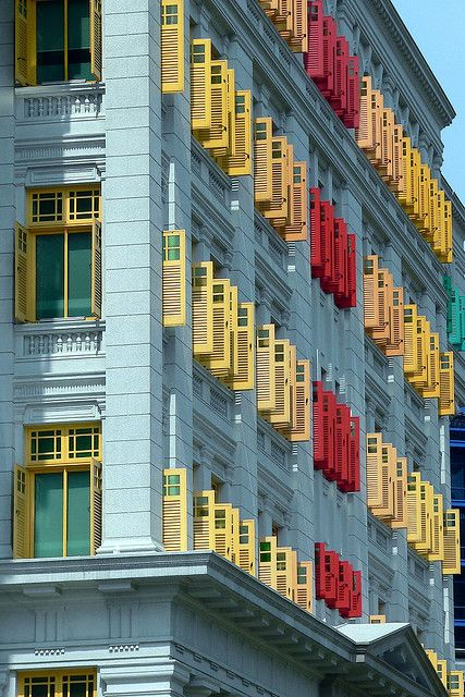 Colourful shutters, Singapore by HellonEarth2006, via Flickr