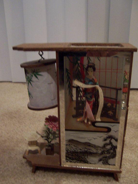 Vintage Wooden Japanese Geisha Girl Lamp by doyourememberwhen, $30.00