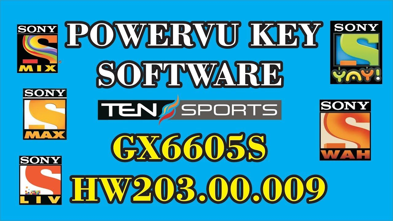 POWERVU KEY SOFTWARE GX6605S HW203 00 009 NEW UPDATE