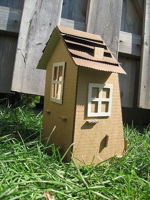 Cardboard Dollhouse Free Template Craft Ideas Cardboard