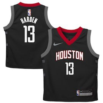6d412bcf7bc James Harden Houston Rockets Nike Preschool Replica Jersey Black - Statement  Edition
