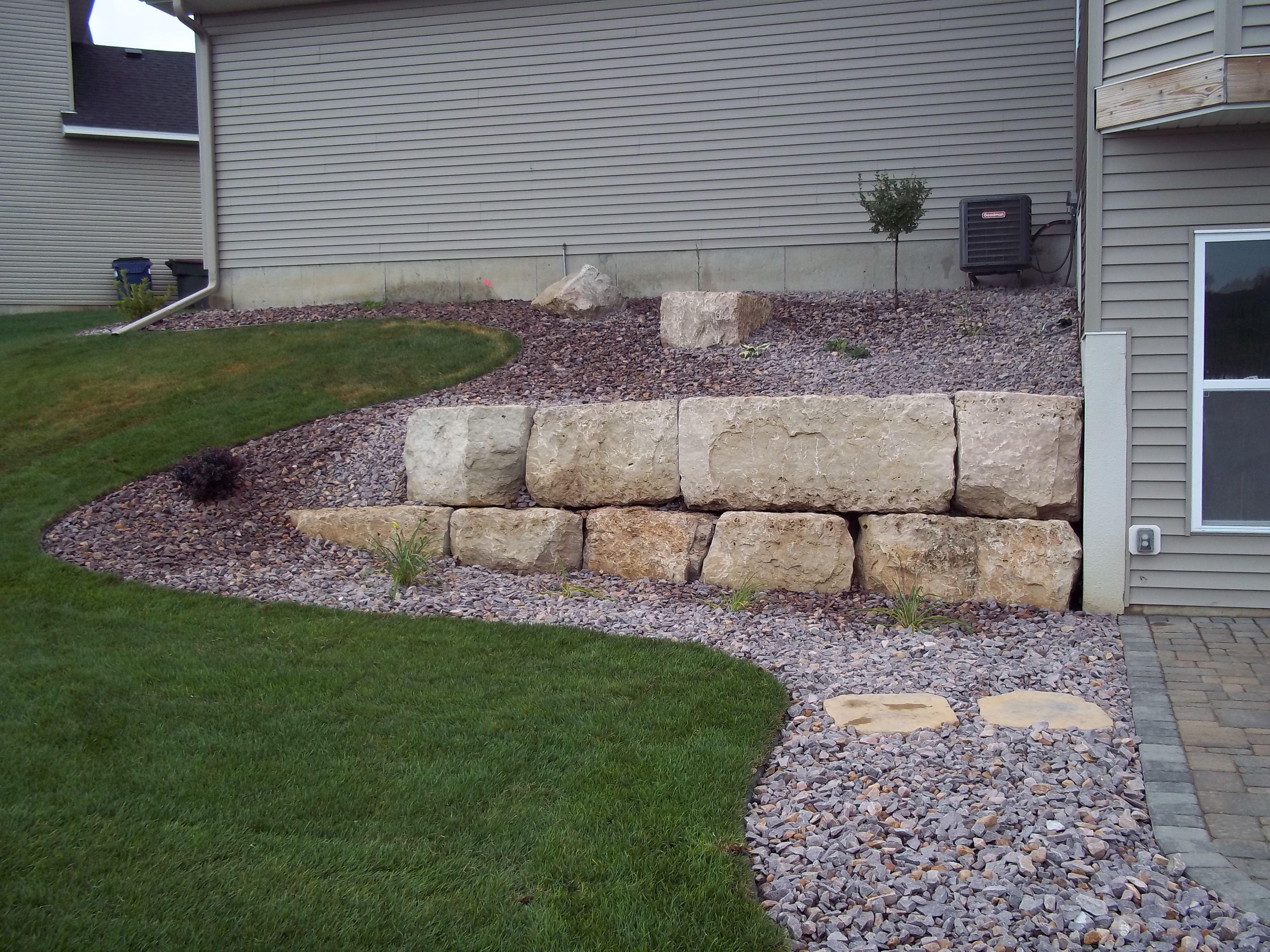 limestone outcropping wall