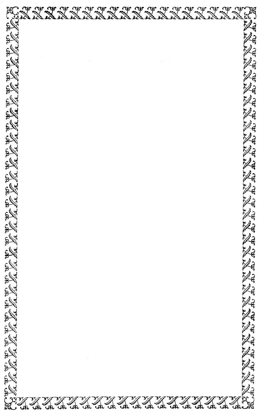 Free Digital Frame Black Decorative Border Clip Art Clip Art