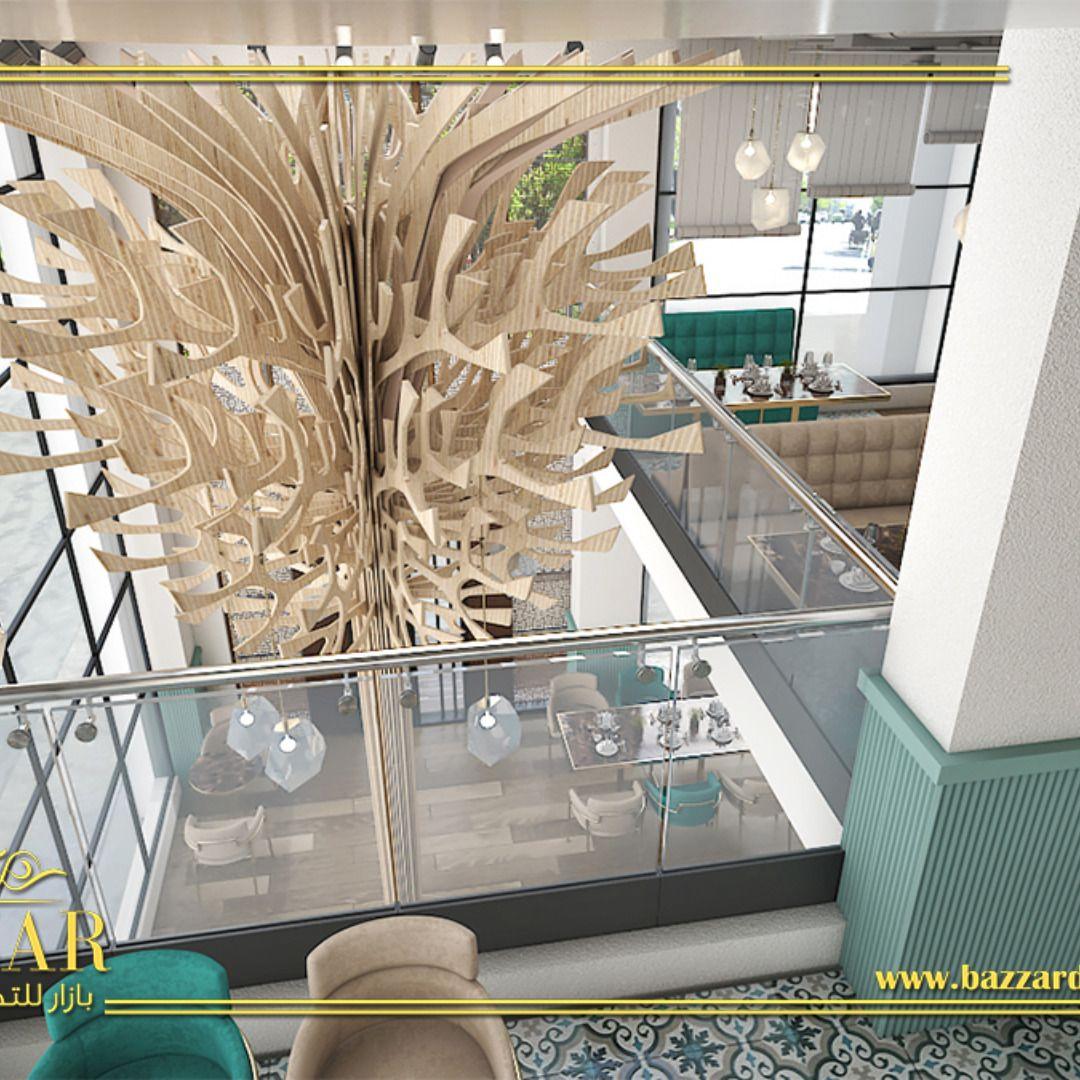 مطعم ايطالي من تصميم افضل مصممين بشركتنا بازار للديكور تصميم مميز من بازار للديكور ديكور كافيه ومخبز فرنسي علي الطراز ن Restaurant Design Design Ceiling Lights