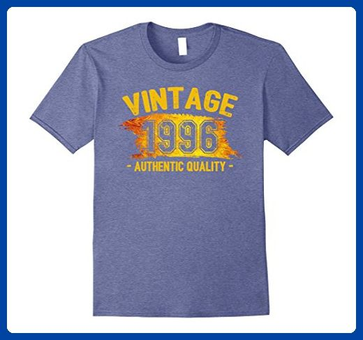 Mens Vintage Authentic Quality 1996 21st Birthday 21 Years Old Large Heather Blue