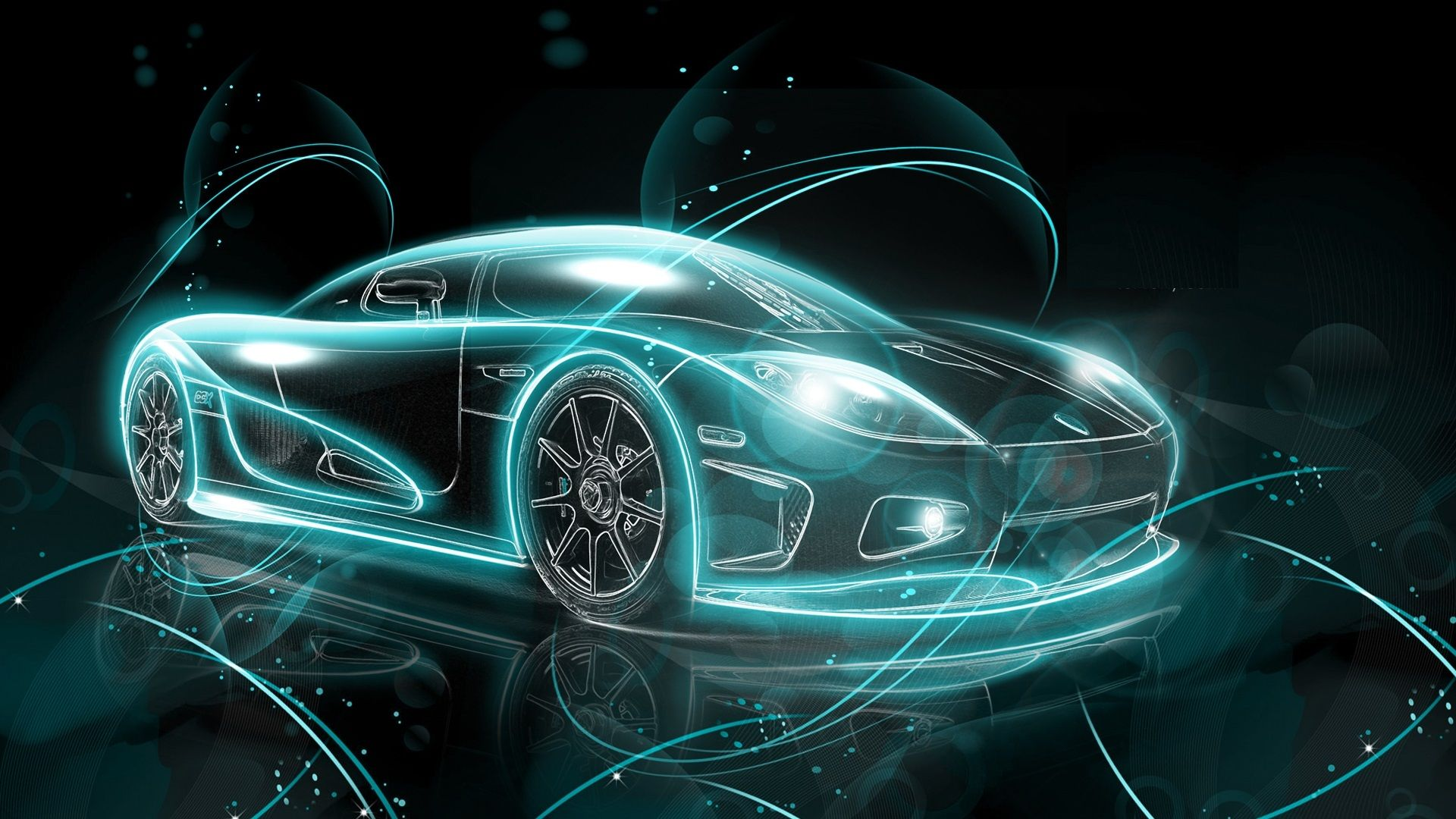 Abstract Sports Car Hd Wallpaper Car Wallpapers Neon Car Car Hd Car Wallpapers