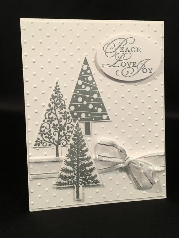 Stampin up Festival of Trees handmade Christmas Card ~ Set of 8; Christmas Cards, Merry Christmas #stampin#39;up!cards