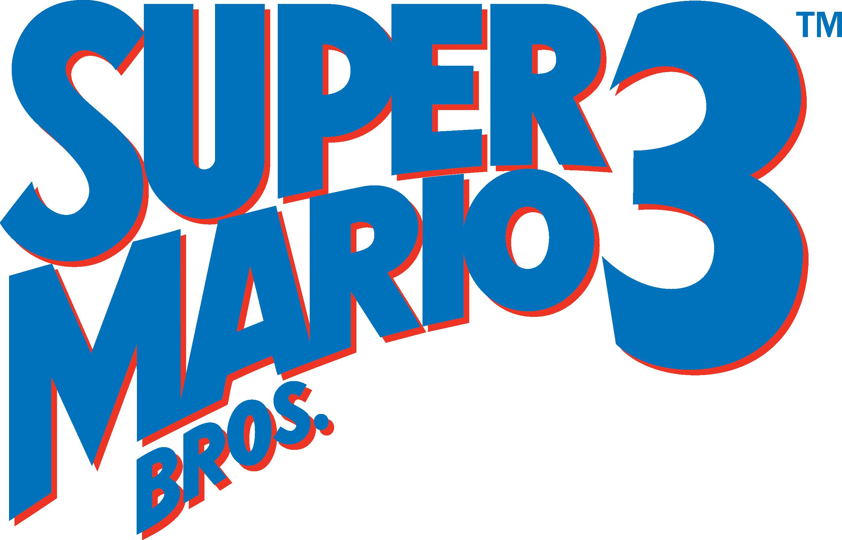 Super Mario Bros 3 logo Logos para camisetas