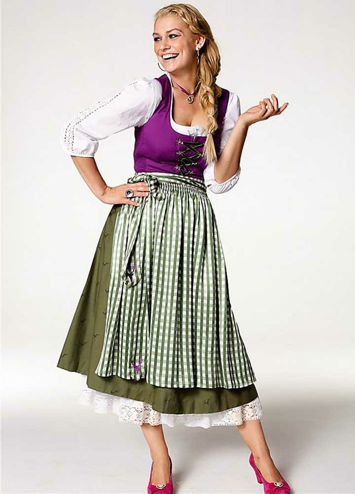 Old style german print dress