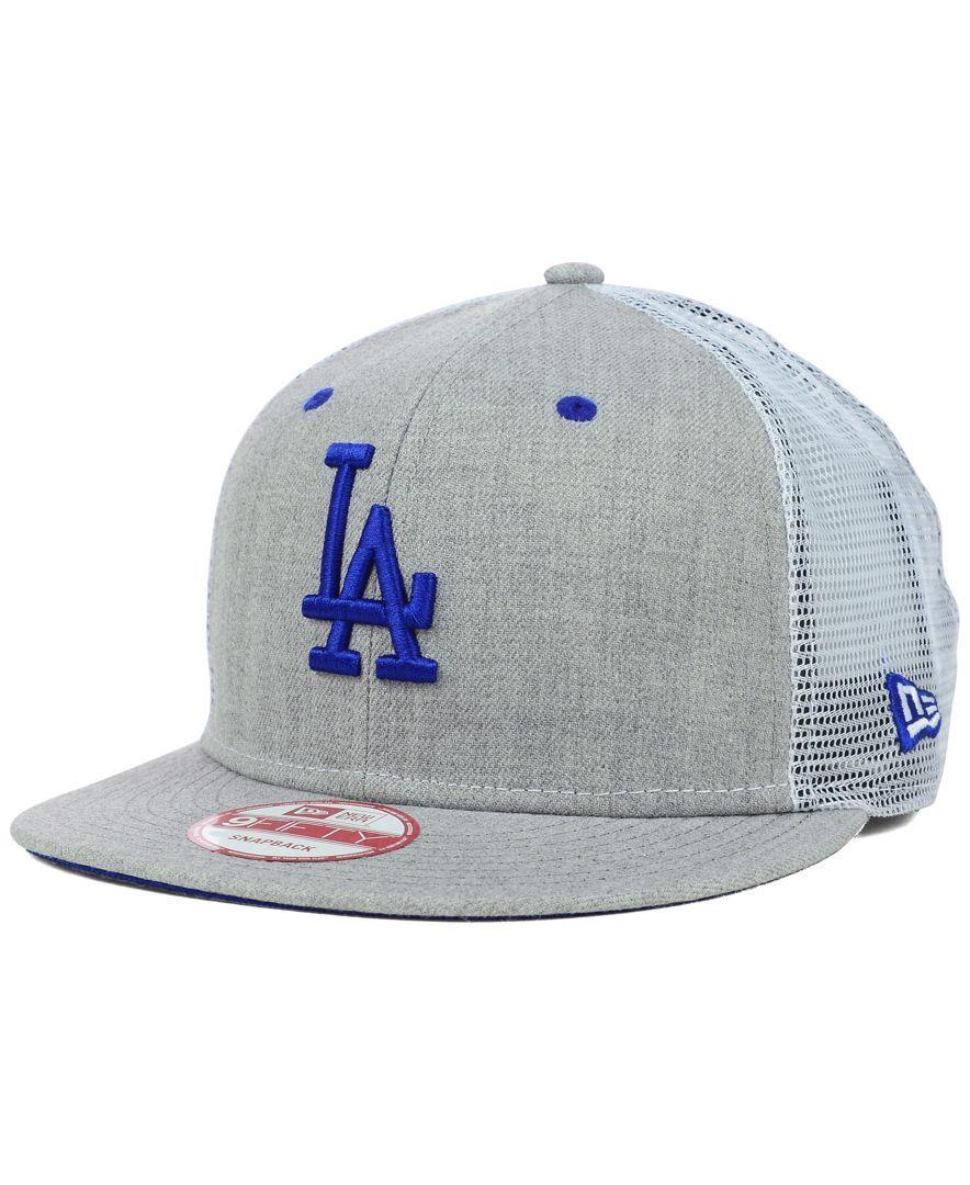 New Era Los Angeles Dodgers Heather Trucker 9FIFTY Snapback Cap ... d0c5d183683