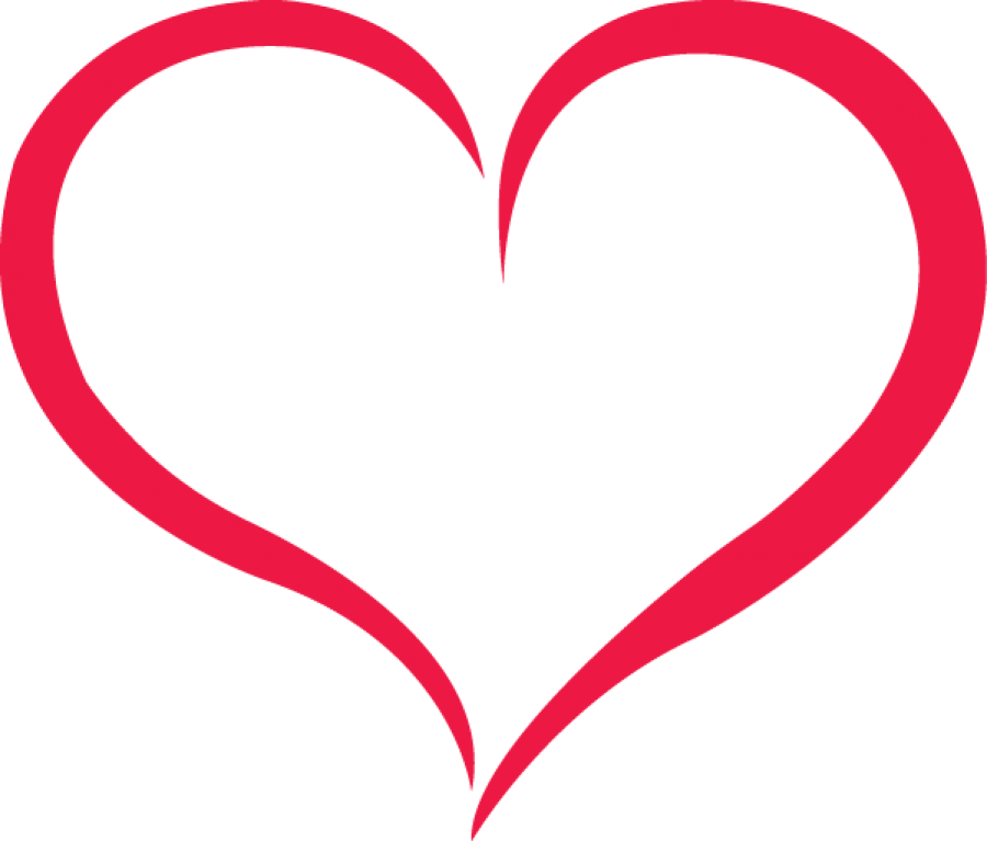 Red Outline Heart Png Image Heart Outline Tattoo Heart Outline Free Clip Art