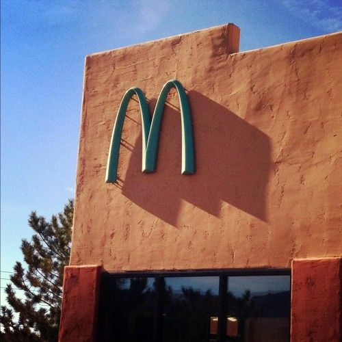 Only one McDonald's in the world has turquoise arches. Government officials in Sedona, Arizona, thought the yellow would look bad with the natural red rock of the city.