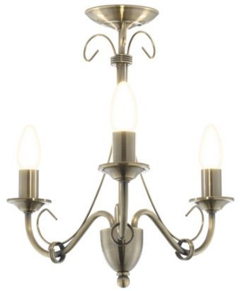 Priory gold 3 lamp ceiling light bq for all your home and garden supplies and advice on all the latest diy trends